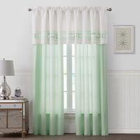 Palm Light Window Curtain Panel Pair in Green