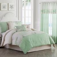 Palm Light 6-Piece Twin Comforter Set in Green