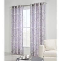 Commonwealth Home Fashions Caldwell 63-Inch Grommet Top Window Curtain Panel in Purple