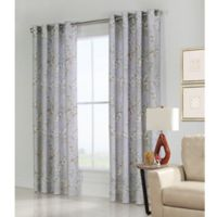 Commonwealth Home Fashions Caldwell 84-Inch Grommet Top Window Curtain Panel in Blue