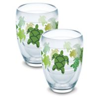 Tervis® Turtle Pattern 9 oz. Stemless Wine Glasses (Set of 2)