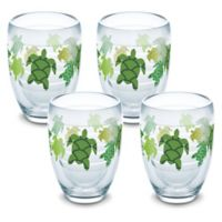 Tervis® Turtle Pattern 9 oz. Stemless Wine Glasses (Set of 4)
