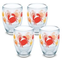 Tervis® Crab Pattern 9 oz. Stemless Wine Glasses (Set of 4)