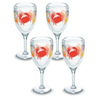 Tervis® Crab Pattern 9 oz. Wine Glasses (Set of 4)