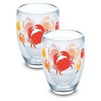 Tervis® Crab Pattern 9 oz. Stemless Wine Glasses (Set of 2)