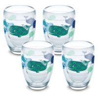 Tervis® Whale Sun & Surf 9 oz. Stemless Wine Glasses (Set of 4)