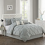 Pom Pom 7-Piece King Comforter Set in Grey