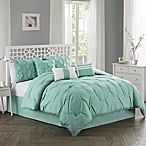 Pom Pom 7-Piece King Comforter Set in Aqua