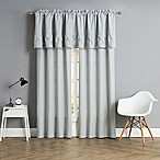 Pom Pom 84-Inch Rod Pocket Window Curtain Panel Pair in Grey