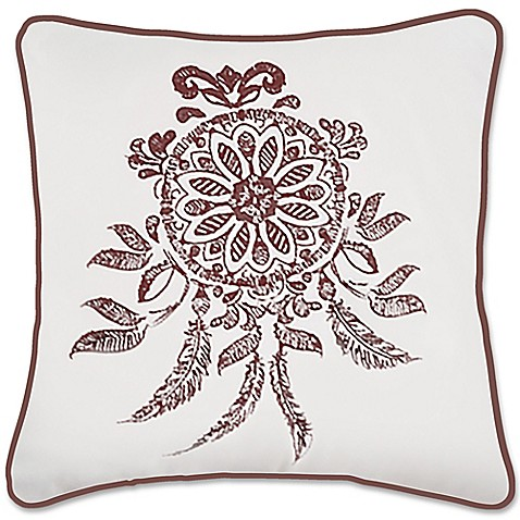 Dreamcatcher Square Throw Pillow in White/Purple - Bed Bath & Beyond