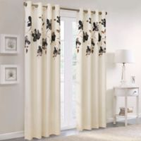 Commonwealth Home Fashions Eden 84-Inch Grommet Top Window Curtain Panel in Charcoal