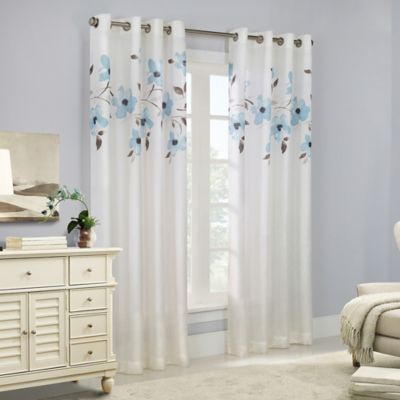 Commonwealth Home Fashions Eden 84 Inch Grommet Top Window Curtain Panel In Mist