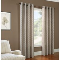 Commonwealth Home Fashions Gladys 63-Inch Grommet Top Window Curtain Panel in Silver