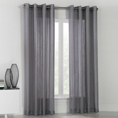 Nice Commonwealth Home Fashions Stella 84 Inch Grommet Top Window Curtain Panel  In Grey