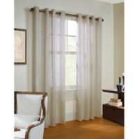 Commonwealth Home Fashions Stella 84-Inch Grommet Top Window Curtain Panel in Ivory
