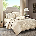 Madison Park Essentials Vaughn Complete King Coverlet Set in Taupe