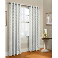 Triumph 84-Inch Grommet Top Window Curtain Panel in White