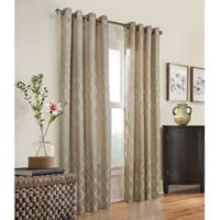 Commonwealth Home Fashions Triumph 63-Inch Grommet Top Window Curtain Panel in Taupe