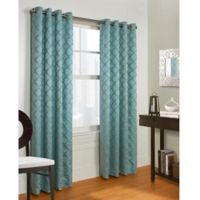 Commonwealth Home Fashions Triumph 84-Inch Grommet Top Window Curtain Panel in Seafoam