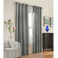 Commonwealth Home Fashions Triumph 63-Inch Grommet Top Window Curtain Panel in Grey