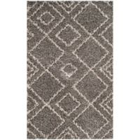 Safavieh Arizona 4-Foot x 6-Foot Shag Area Rug in Brown/Ivory