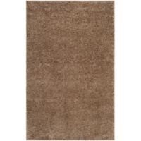 Safavieh Arizona 4-Foot x 6-Foot Shag Area Rug in Taupe