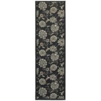 Oriental Weavers Highlands Floral 2-Foot 3-Inch x 7-Foot 6-Inch Runner in Midnight