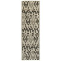 Oriental Weavers Highlands Ikat 2-Foot 3-Inch x 7-Foot 6-Inch Runner in Ivory