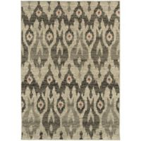 Oriental Weavers Highlands Ikat 3-Foot 10-Inch x 5-Foot 5-Inch Scatter Rug in Ivory