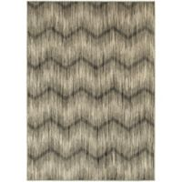 Oriental Weavers Highlands Chevron 3-Foot 10-Inch x 5-Foot 5-Inch Scatter Rug in Grey
