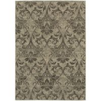 Oriental Weavers Highlands Floral 3-Foot 10-Inch x 5-Foot 5-Inch Scatter Rug in Grey