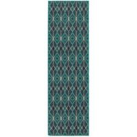 Oriental Weavers Highlands Diamonds 2-Foot 3-Inch x 7-Foot 6-Inch Runner in Blue