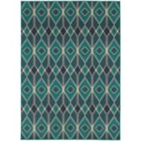 Oriental Weavers Highlands Diamonds 3-Foot 10-Inch x 5-Foot 5-Inch Scatter Rug in Blue