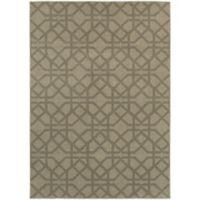 Oriental Weavers Highlands Geometric 3-Foot 10-Inch x 5-Foot 5-Inch Scatter Rug in Grey