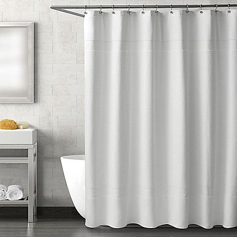 image of Haven Serenity Shower Curtain in White