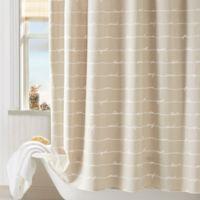 Coastal Living® Sand Script Shower Curtain in Natural