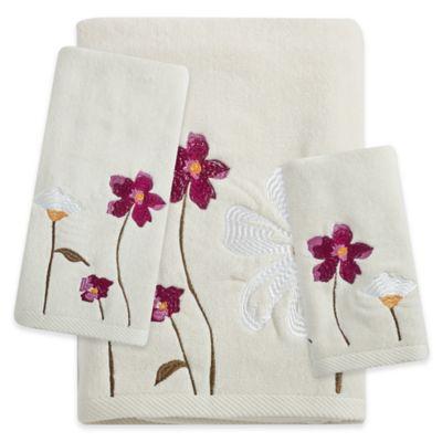 croscill pressed flowers bath towel - Decorative Bath Towels