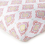 Levtex Baby Anika Crib Fitted Sheet in Pink/White
