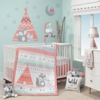 Lambs & Ivy® Little Spirit 3-Piece Crib Bedding Set in Coral/Teal