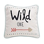 "Lambs & Ivy® Little Spirit ""Wild One"" Square Throw Pillow in Coral/Teal"