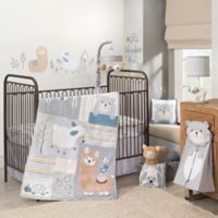 Lambs & Ivy® Happi by Dena™ Little Llama 4-Piece Crib Comforter Set in Grey/Blue