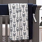 Liz and Roo Woodland Arrows Crib Blanket in Navy/White
