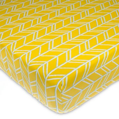 in sheet bed cribs sheets soft jean glenna herringbone happy crib camper yellow fitted buy beyond from bath
