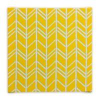 Glenna Jean Happy Camper Herringbone Wall Art in Yellow