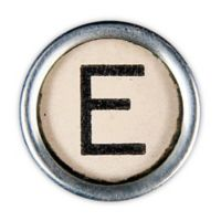 Letter2word Babes & Kiddo Typewriter Key Letter E 8.5-Inch x 8.5-Inch Wall Art