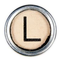 Letter2word Babes & Kiddo Typewriter Key Letter L 8.5-Inch x 8.5-Inch Wall Art