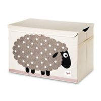 3 Sprouts Sheep Storage Box in White