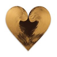Letter2Word Babes and Kiddos Heart Wall Decal in Bronze