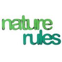 """Letter2word Babes & Kiddo """"Nature Rules"""" Wall Art in Green"""