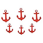 Letter2Word Babes and Kiddo 6-Pack Anchor Wall Art in Red